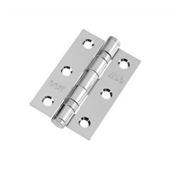 Ball Bearing Butt Hinge 75mm x 50mm x 2mm c/w Matching Screws - Polished Chrome