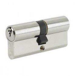 5 Pin 40mm x 40mm Anti Pick & Drill Europrofile Double Cylinder Keyed To Differ - Satin Chrome