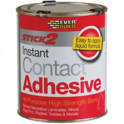 Everbuild Stick 2 Contact Adhesive All Purpose 750ml Tin - Beige