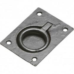 "Kirkpatrick Black Antique 3"" Flush  Ring Pull"