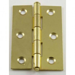 75mm Loose Pin Electro Brass Butt Hinges - Light Pattern