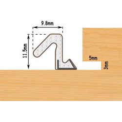 Exitex Aquatex A10 Weather Seal For Windows & Doors Seals Gaps 4.5mm To 8mm - Bronze (250M Coil)