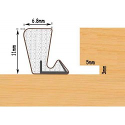 Exitex Aquatex P11 Weather Seal For Windows & Doors Seals Gaps 4.5mm To 6mm - Bronze (250M Coil)