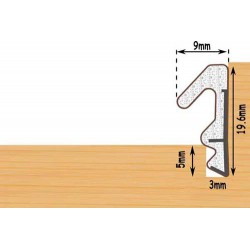 Exitex Aquatex S20 Weather Seal For Windows & Doors Seals Gaps 5mm To 7.5mm - White (125M Coil)