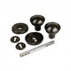 Black Plastic Rim Lock Knob Furniture