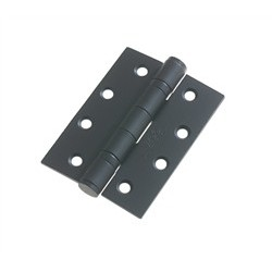 Grade 13 Ball Bearing Butt Hinge 100mm x 75mm x 3mm 30/60 Minute Fire Rated BSEN 1935 - Black