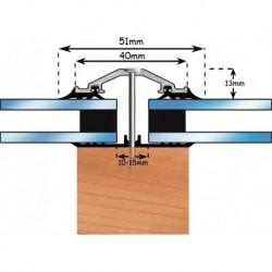 Exitex 40mm Capex 2.4 Metre - Brown c/w 45mm Rafter Gasket 1 End Cap & Fixings