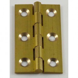 50mm x 28mm Solid Drawn Brass Butt  Hinges