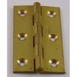 75mm x 40mm Solid Drawn Brass Butt  Hinges