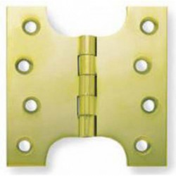 "4"" x 3"" x 5"" Polished Brass Parliament Hinges - Wide Knuckle Type"