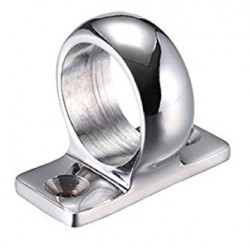 Victorian Sash Window 35mm Face Fix - Ring - Polished Chrome