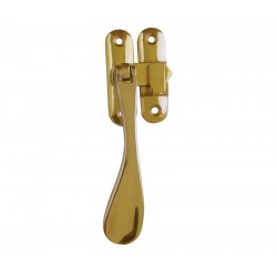 Victorian Window Casement Fastener c/w Mortice & Hook Plate - Polished Brass