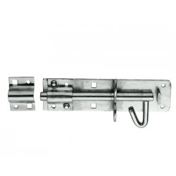 100mm Brenton Padlock Bolt - Bright Zinc Plated