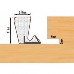 Exitex Aquatex P11 Weather Seal For Windows & Doors Seals Gaps 4.5mm To 6mm - Bronze 10 Metre Bag