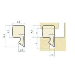 Schlegel Aquamac 63 Weather Seal For Windows & Doors Seals Gaps 3.4mm To 5.4mm - Bronze (300M Coil)