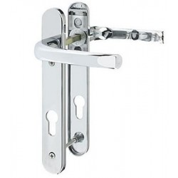 Pro-Linea Sprung Multipoint Door Lock Handle c/w 92mm Centres Polished Chrome