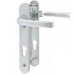 Pro-Linea Sprung Multipoint Lock Door Handle c/w 92mm Centres Satin Chrome