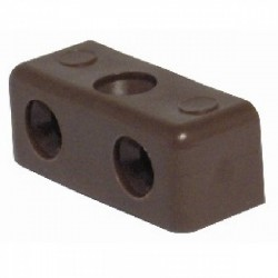KD Single Jointing Connector Modesty Block Brown