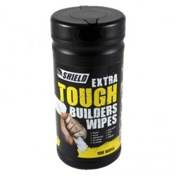 Shield Extra Tough Builder Wipes Tub of 100