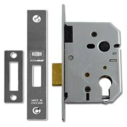 Union 76mm Europrofile Deadlock Case c/w 57mm Backset Satin Chrome
