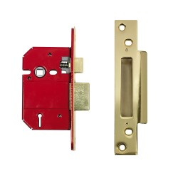 ERA 76mm High Security Fortress Mortice Sashlock c/w 57mm Backset & 57mm Centres Electro Brass