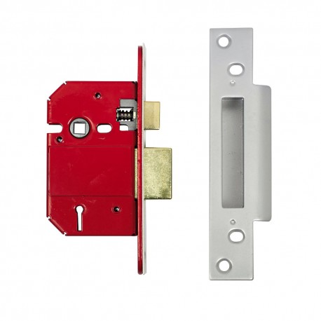ERA 76mm High Security Fortress Mortice Sashlock c/w 57mm Backset & 57mm Centres Satin Chrome