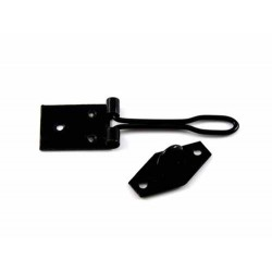 75mm Black Japanned Wire Hasp & Staple