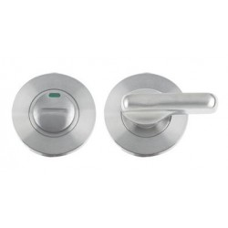 52mm Dia. Disabled Bathroom Turn &  Emergency Release c/w Indicator Satin Stainless Steel