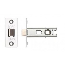 63mm Tubular Mortice Latch  c/w 44mm Backset Polished Stainless Steel