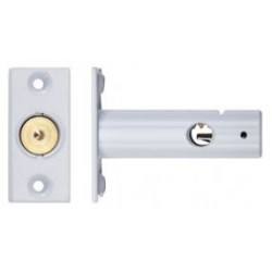 60mm Door Security Bolt c/w 32mm Backset White Powder Coated