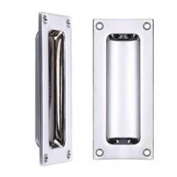 100mm Door Flush Pull Polished Chrome