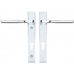 Vela Unsprung Multipoint Door Handle On 220mm x 32mm Backplate c/w 92mm Centres Polished Chrome