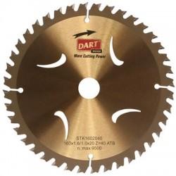 DART Gold ATB Wood Saw Blade 165mm Dia. x 20mm Bore x 40 Teeth