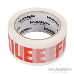 48mm x 66m Fragile Packing Tape Red & White
