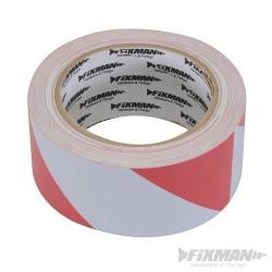 PVC Hazard Tape - 50 x 33Mtr - Red/White