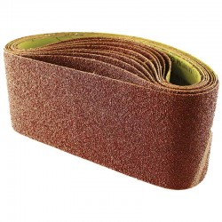 610mm x 100mm Aluminium Oxide 120 Grit Sanding Belt c/w Cloth Back Pack Of Ten Belts