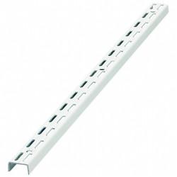 Twin Slot  Shelving Upright 1600mm Long White