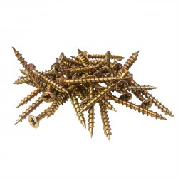3.5mm x 20mm Pozi Csk Woodscrews Yellow Passivated