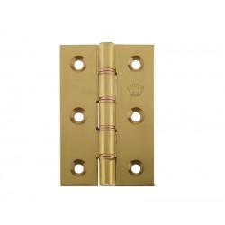 76mm Double Phosphur Bronze Washered Butt Hinges Polished Brass
