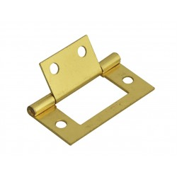 75mm Flush Hinges Electro Brass