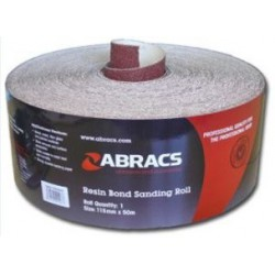 115mm Aluminium Oxide 100 Grit Sand Paper 50 Metre Roll c/w E Weight Backing & Resin Coated