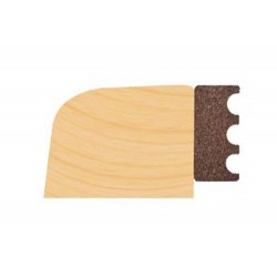 EPDM Timber Dry Glazing Tape Brown `M' Profile 3mm x 9mm (150M Coil) (Priced per coil)