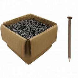 75mm Bright Steel Round Wire Nails 3.75mm Gauge - 25kg