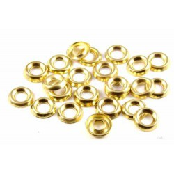 Number 10 Surface Screw Cups - Solid Brass