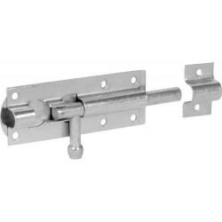 102mm Straight Tower Bolt - Zinc Plated