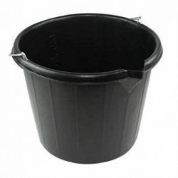 15 Litre Black Builder Bucket c/w Strong Metal Handle