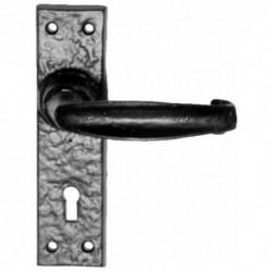 Kirkpatrick 2440 Lever Door Handle  - On 152mm x 38mm Lock Backplate  - Black Antique