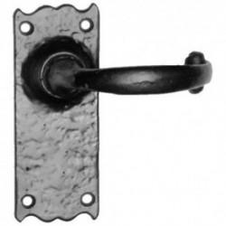 Kirkpatrick 2488 Lever Door Handle  - On 127mm x 50mm Latch Backplate - Black Antique