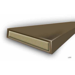 30 Minute Intumescent Fire Only - Strip 10mm x 4mm x 2100mm - Brown - (Self Adhesive & Certifire)