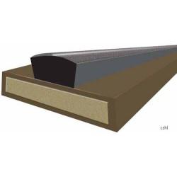 30 Minute Intumescent Fire & Smoke  - Strip 10mm x 4mm x 2100mm - Brown - (Self Adhesive Certifire & EN16343)